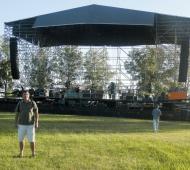 El escenario ya dispuesto en el Velódromo.