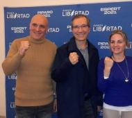 José Luis Espert y Carolina Píparo junto a Hernán Alcolea.