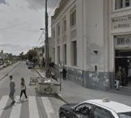 La esquina donde el hombre dijo haber sido interceptado por el delincuente.