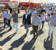 """Intendentes del PJ bonaerense recorrieron Expoagro con miras a la """"reconciliación"""" con el campo"""