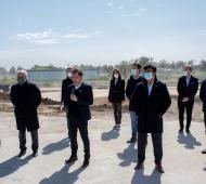 El gobernador estuvo en Ezeiza con el intendente local, y los de La Matanza, San Vicente y Cañuelas.