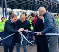 Inauguró el nuevo Centro Logístico Municipal. Foto: Prensa