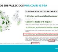 El mapa que difundió el Ministerio de Salud, con los datos relacionados a San Pedro resaltados por LaNoticia1.com
