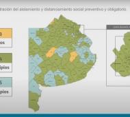 Coronavirus en Provincia: Cuatro comunas bajaron de fase 5 a 4 por el incremento de casos