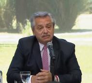 Alberto Fernández desde Olivos