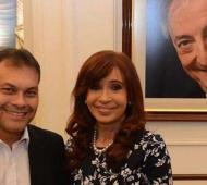 Festa apoyó la candidatura de Cristina en 2017.