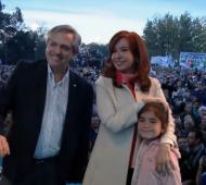 Alberto Fernández y Cristina en Merlo juntos por primera vez después del anuncio de la fórmula