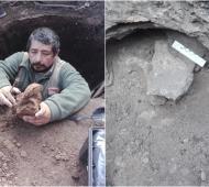 Luján: Hallaron restos fósiles de un perezoso en la obra de un pozo ciego