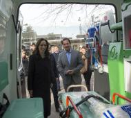 Vidal estuvo en Escobar, vistió una unidad de diagnóstico precoz y entregó dos ambulancias