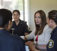 Vidal en la Comisaría de la Mujer en Ameghino