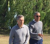 Macri y Barack Obama recorren el Buenos Aires Golf Club