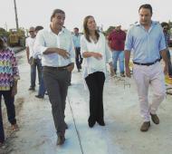 Vidal visitó San Antonio de Areco.