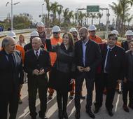 Vidal inauguró la obra en Ezeiza.