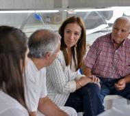 Vidal estuvo en Laprida, La Madrid y Gonzales Chaves