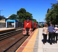 La renovada estación Carapachay del tren Belgrano Norte