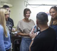 Vidal y Juliana Awada junto a trabajadores del calzado en Puerta de Hierro
