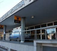 Mía está internada en el Hospital de Niños de La Plata. Foto: Diario El Día