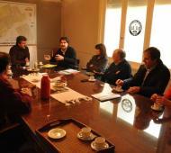 El ministro de Agroindustria analizó la situación hídrica de la Provincia. Foto:Prensa