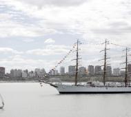 La Fragata Libertad ya llegó a Mar del Plata y se podrá visitar desde este sábado