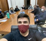 Galli reunió a su equipo de trabajo