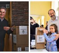 Héctor Gay y Federico Susbielles emitieron su voto