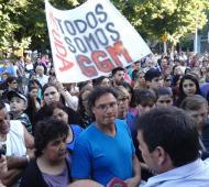 El intendente Canosa respondiendo a una protesta de los trabajadores el pasado miércoles. Foto: @NoticiasLF1