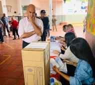 El candidato a Presidente del Frente Nos votó en San Isidro