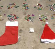 Comercializaban la droga escondida en ropa navideña