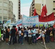 Los gremios se manifestarán este martes en Bahía Blanca.