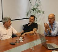 """Lanús: Grindetti recibió a De Gennaro para trabajar en conjunto en la """"lucha contra el hambre"""""""