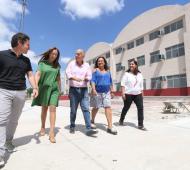 Grindetti y María Eugenia Vidal recorrieron Polo educativo de Villa Jardín en Lanús