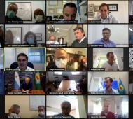Reunión virtual con Larreta
