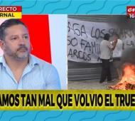 Gustavo Menéndez participó de un debate televisivo.