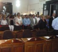 Las bancas vacías. Aun no se renovó el Concejo. Foto: areconoticias.com.ar