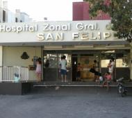 El Hospital donde fue internado el joven en San Nicolás.