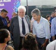 Zabaleta junto a dos de los ministros más activos del Gobierno.