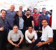 """Martiniano Molina participó de """"Quilmes Ora"""" junto a unos mil quinientos evangelistas"""