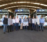 Lanús: Grindetti visitó la Línea 9 y presentó el nuevo recorrido expreso por Puente Olímpico