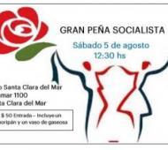 El folleto de invitación a la peña socialista. Foto: El Ciudadano