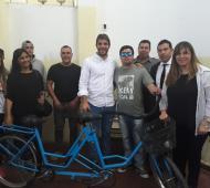 La ocasión fue acompañada por el intendente Manuel Passaglia, y otras autoridades.