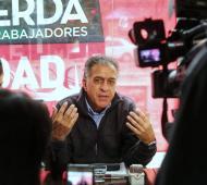 Pitrola brindó una conferencia en Vicente López.
