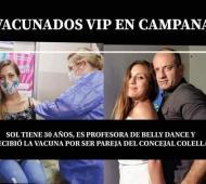 La foto que se viralizó en Campana por las redes sociales.