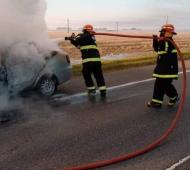 El incendio ocurría a 100 kilómetros de distancia. Foto: @ElTitular_