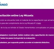 Ley Micaela: Ituzaingó adhirió al curso de formación de formadores