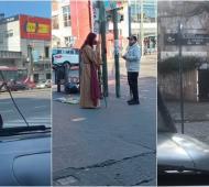 """Video furor: Un """"Jesús"""" del conurbano caminando de Lanús a Lomas de Zamora"""