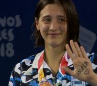 #BuenosAires2018: Delfina Pignatiello, la campeona mundial juvenil, ganó la plata en 800 metros libres