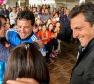 Otros tiempos: Massa y Curuchet, juntos en un acto. Foto: Qué Digital.