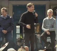 Kicillof en Junín: Tras el debate, se mostró junto a Massa y Meoni y dijo que Macri está desorientado