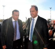 Scioli y Cáffaro juntos en Zárate.