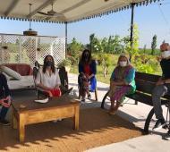 Cumbre de una parte de Juntos por el Cambio en la casa de Elisa Carrió